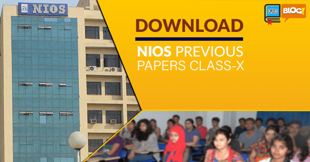 nios previous paper for class 10th