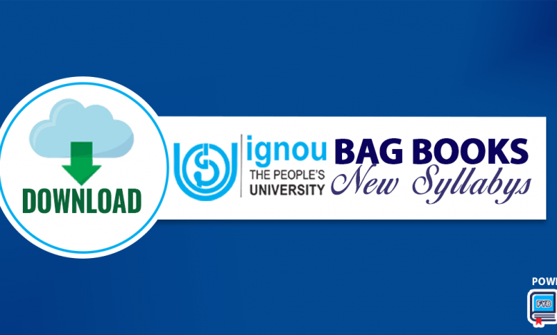 IGNOU BAG Books - Download