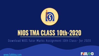 Photo of Download NIOS TMA Class 10th 2019-20