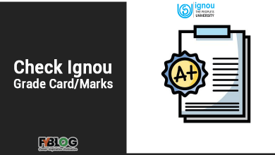 Check Ignou Grade Card / Marks