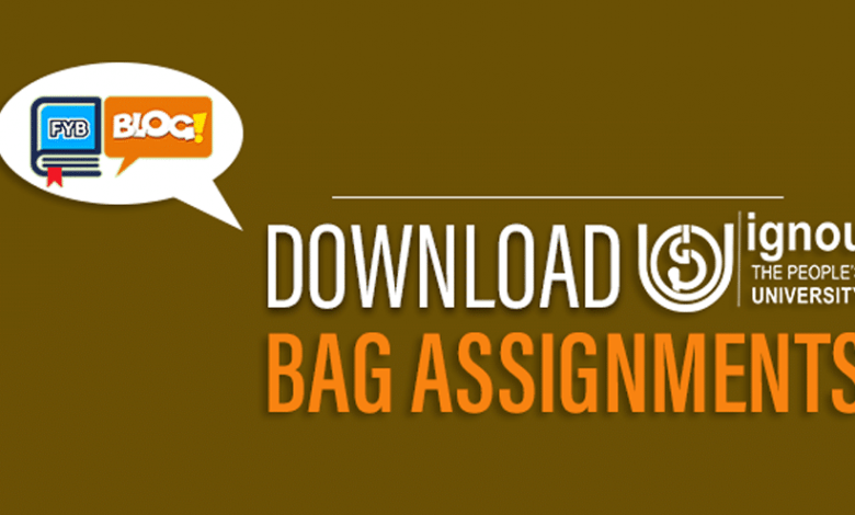 Ignou-BAG-Assignments