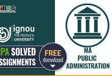 Photo of Ignou MPA Solved Assignments- Free Download