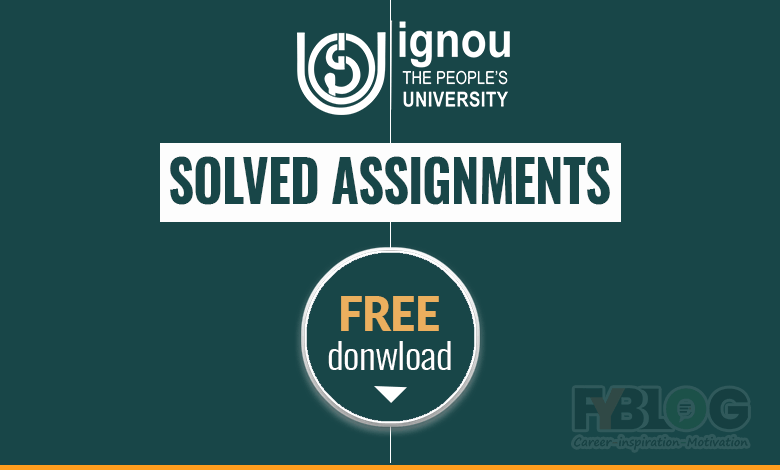 Ignou-Solved-Assignment-Free-Download