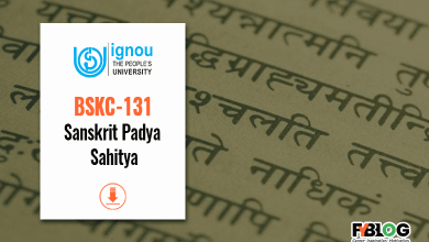 Photo of BSKC-131 study material: Download Ignou Book for BSKC-131