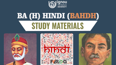 Ignou BAHDH Study Materials (Ignou BA Hindi Books)