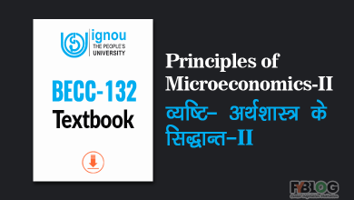 Photo of Ignou Book BECC-132 Principles of Microeconomics-II