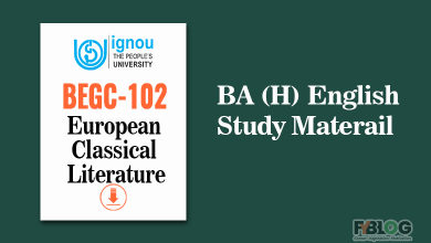 Photo of Ignou BEGC-102 study material : European Classical Literature