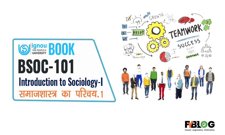 Ignou Book BSOC-101 Hindi English
