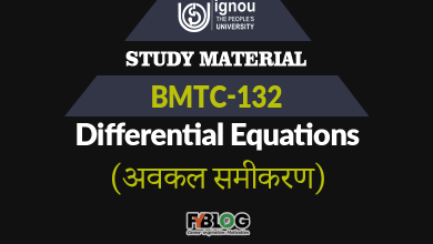 Ignou BMTC-132 Study Material/Book