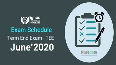 Ignou Date Sheet June 2020
