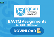 Ignou BAVTM Assignments