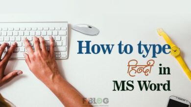 how to type hindi in ms office