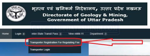 Registration For Inter State Transit Pass