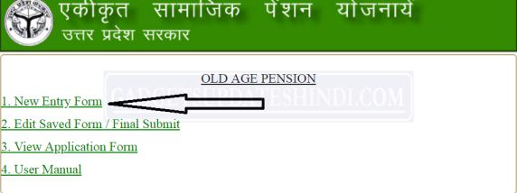 UP-Old-Pension-New Entry Form