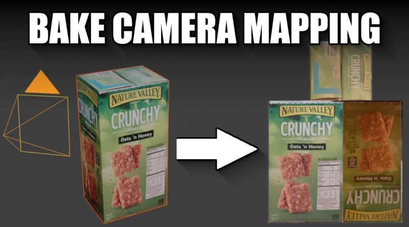 Blender 2.8 Bake camera mapped projected texture tutorial