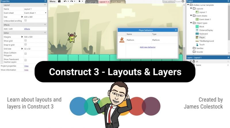 Construct 3 - Layouts & Layers