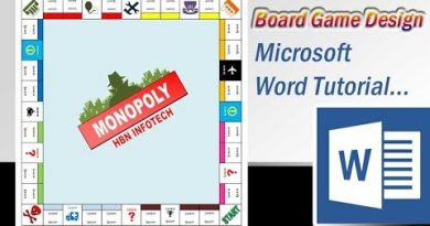 How to design HBN Infotech Monopoly or Business Game in Microsoft Word