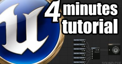 Unreal Engine 4 Minutes Beginner TUTORIAL FPS Play Sound at location, 3D ambient audio