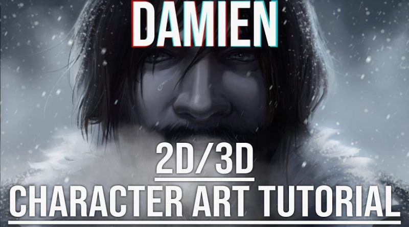 """Creating the Characters of """"Damien""""- A 2D/3D Blender Tutorial"""
