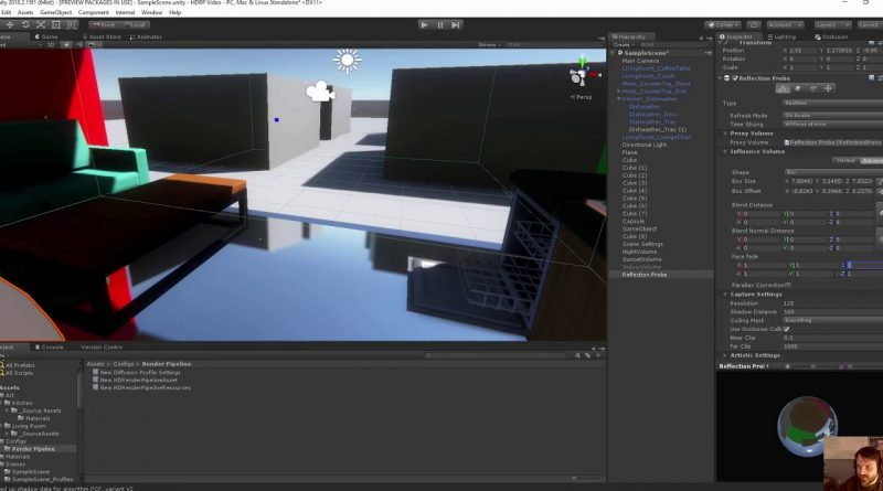Unity HD Render Pipleline Tutorial Part 5 - Reflection Probes