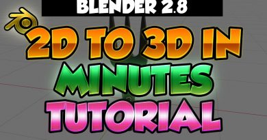 Blender 2.8 Tutorial - From 2D photo to 3D in minutes