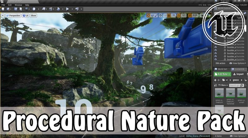 Unreal Engine Procedural Nature Pack (+Good Skys) In Action -- Now Free!