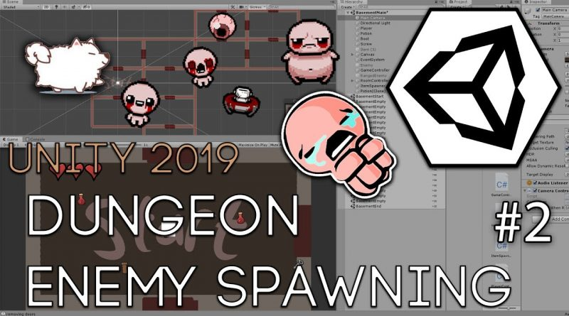 Binding of Isaac Dungeon Enemy Spawning Part 2 - Unity 2019 Tutorial
