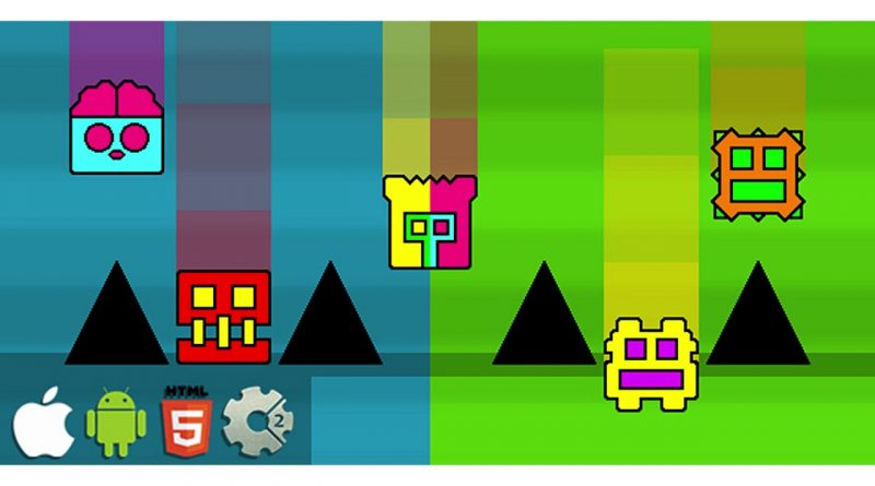 Falling Dash - HTML5 Mobile Game (Construct 3 | Construct 2 | Capx) | Codecanyon Scripts and