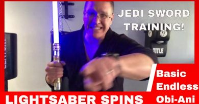 LIGHTSABER SPINS TUTORIAL AND WORKOUT
