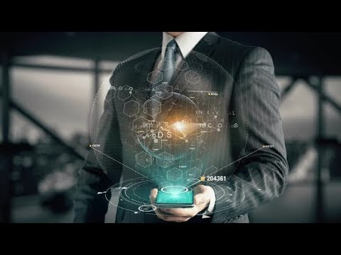 Businessman with In-game Mobile Marketing Hologram Concept   Motion Graphics - Videohive template