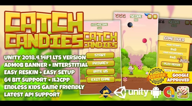 Make Catch All Candy Game Unity3D Speed Video #2