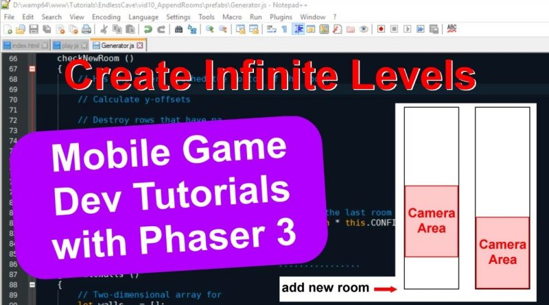 'Endless Cave' Ep. 12: Infinite Levels | Phaser 3 Game Dev Tutorial