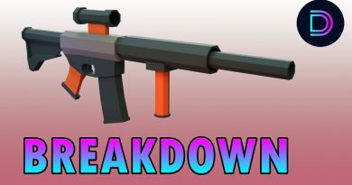 Blender Tutorial   How to Make a Low Poly Gun in Blender 2.8   Low Poly Rifle Tutorial Breakdown