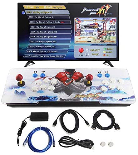 SupYaque Pandora Box Retro Video Arcade Games Console Support 3D Games with Built in 2706 Games Full HD 2 Players Joystick and Buttons (2706 in 1)