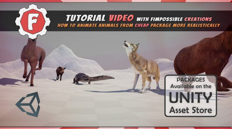 [Unity Tutorial] How to animate animals from cheap package more realistically
