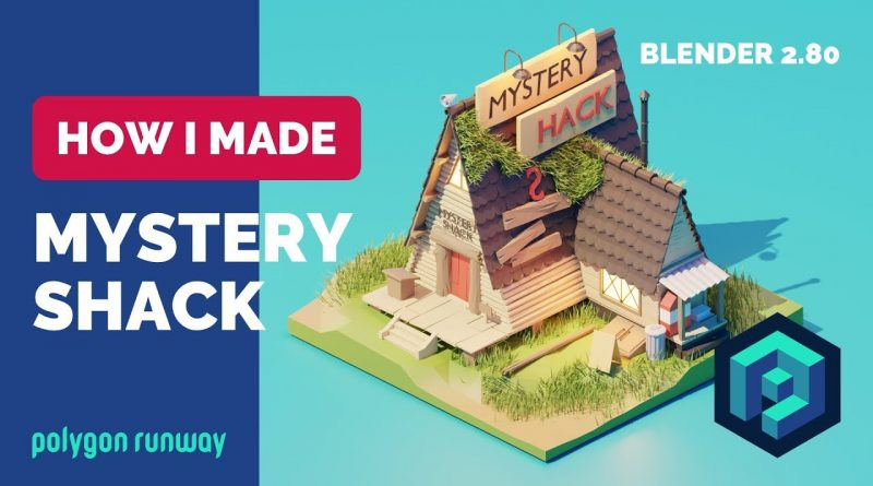 Gravity Falls Mystery Shack in Blender 2.8 - Low Poly 3D Tutorial