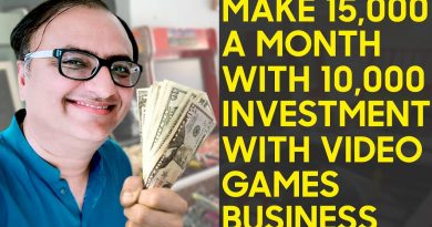 Make 15,000 a month with 10,000 investment with Video games business   Rehan Allahwala