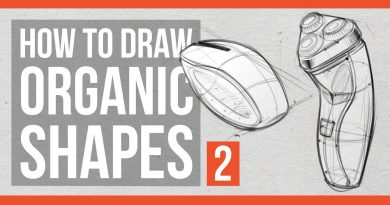 How to Draw Organic Shapes part 2 - Product Sketching Edition