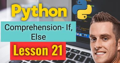 comprehension in python - list comprehension   If-Else Conditional - python programming - Lesson 21