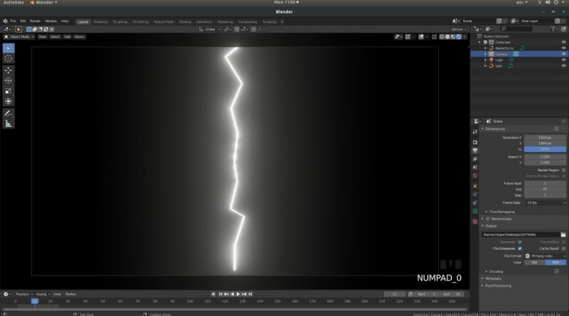 Blender 2.8 Tutorial: How To Create And Animate Lightning.