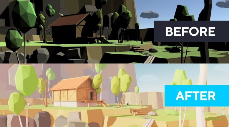Unity 2020 Tutorial - Lighting And Post-Processing Low Poly Scene