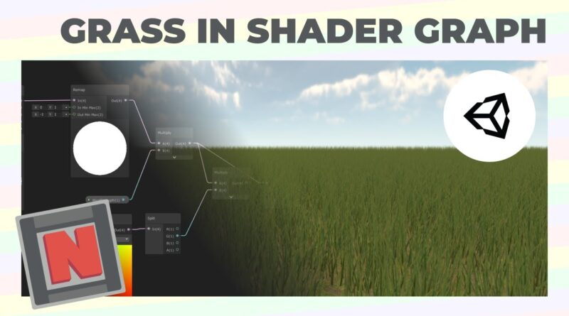 Wind Animated Grass In Shader Graph Using Meshes! Unity URP   Game Dev Tutorial