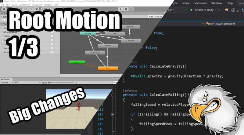 [Unity Tutorial 16] Moving to Root Motion | 1/3