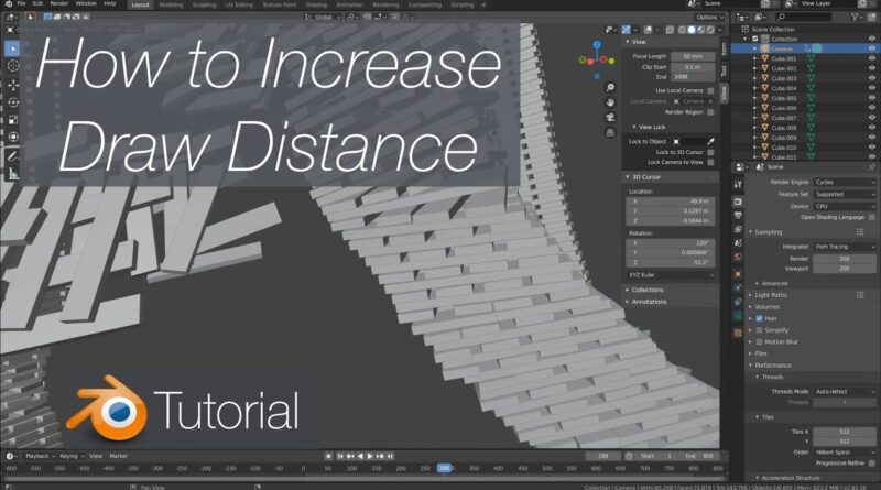 [2.81] 4K Blender Tutorial: How to Increase Draw Distance