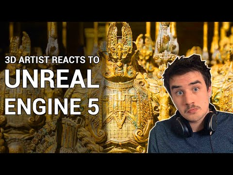 3D Artist Reacts to Unreal Engine 5 - Industry Changing Features!