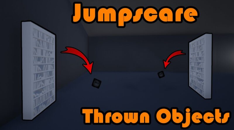 Thrown Object Jumpscare | Book Thrown Off Bookshelf - Unreal Engine 4 Tutorial
