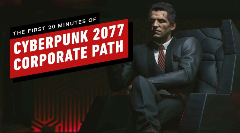 Cyberpunk 2077: The First 20 Minutes of Corporate Path Gameplay (4K 60fps Ultra RTX)