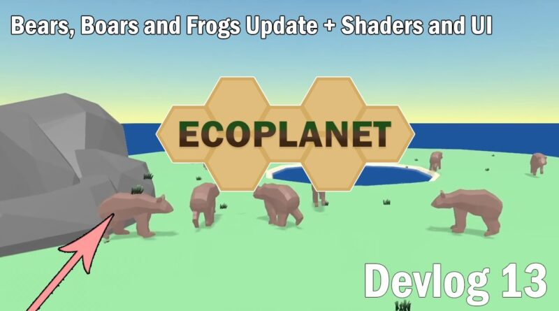 Bears, boars and frogs + Shaders and UI   Ecosystem indie game in Unity   Devlog #13