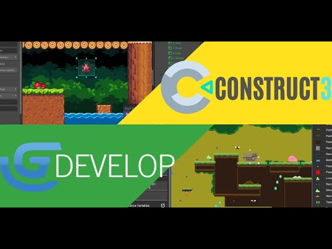 CONSTRUCT 3 vs GDEVELOP 5: Which visual game engine is better? Part I