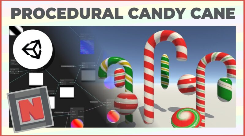 Candy Cane Procedural Material in Unity URP! Only uses Shader Graph!   Game Dev Tutorial
